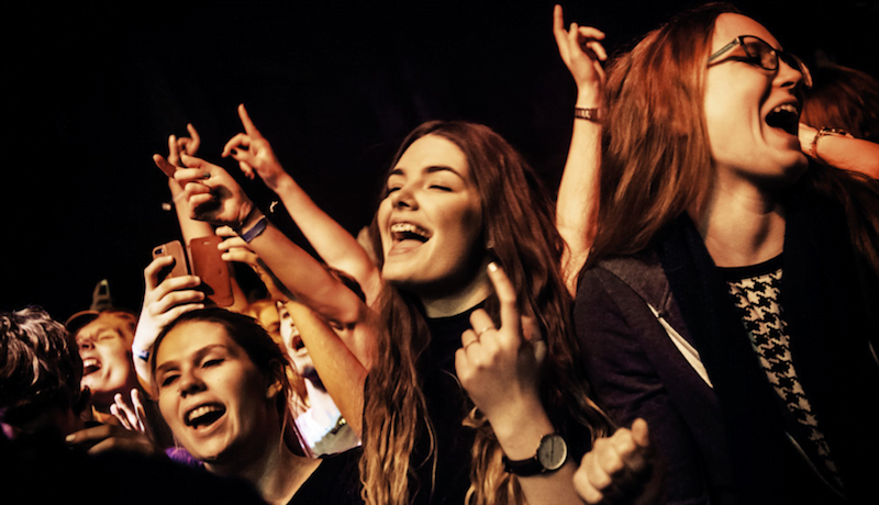 Fans at Where's the Music? 2015 in Norrköping
