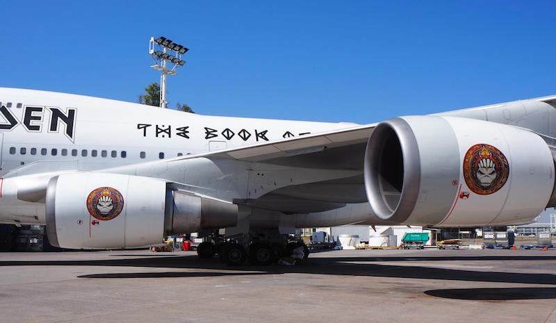 Ed Force One, Iron Maiden, Santiago Airport