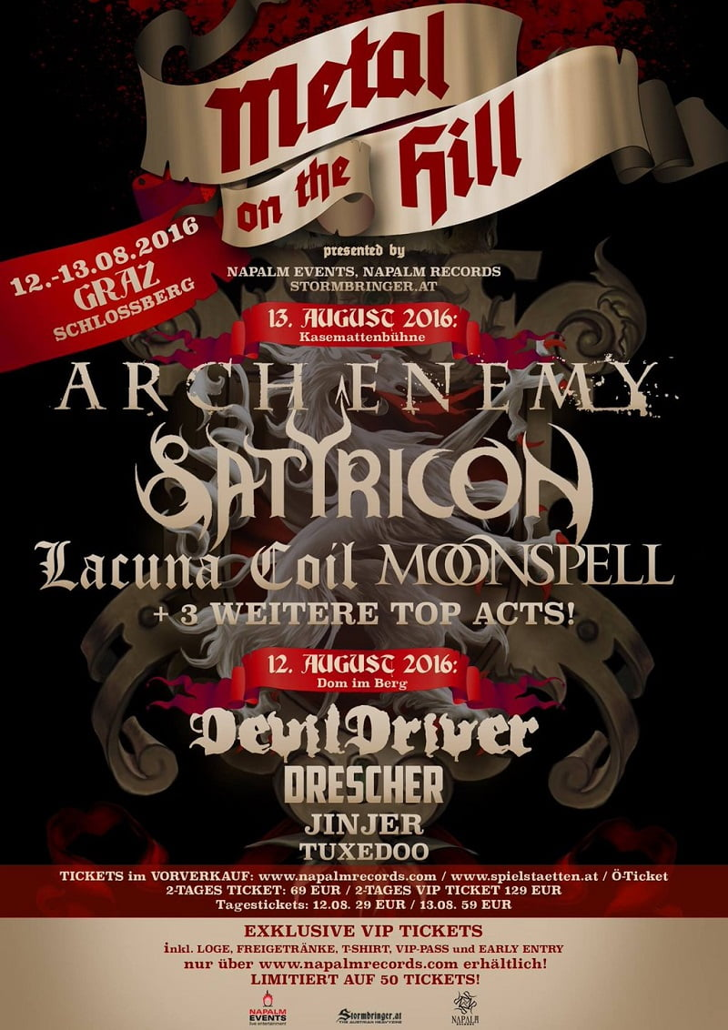 Metal on the Hill 2016, Graz, Napalm Events
