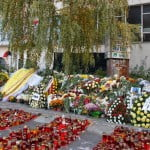 Floral tributes, Colectiv nightclub, Bucharest, Eugen Simion