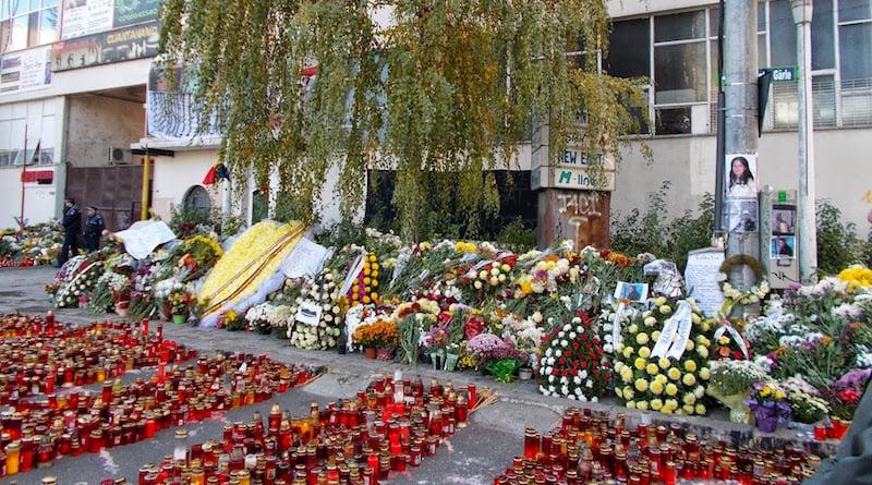 Floral tributes, Colectiv nightclub, Bucharest, Eugen Simion
