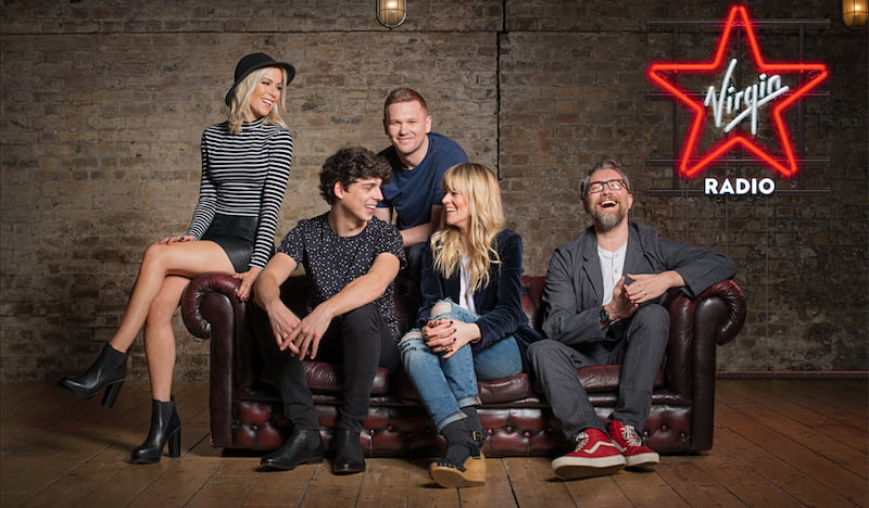 Kate Lawler, Matt Richardson, Tim Cocker, Edith Bowman, Jamie East, Virgin Radio UK
