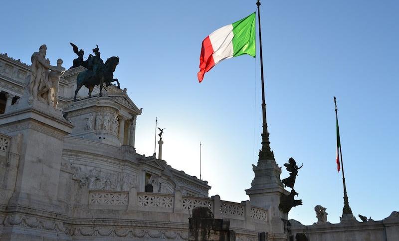 Italian flag, Rome, Italy