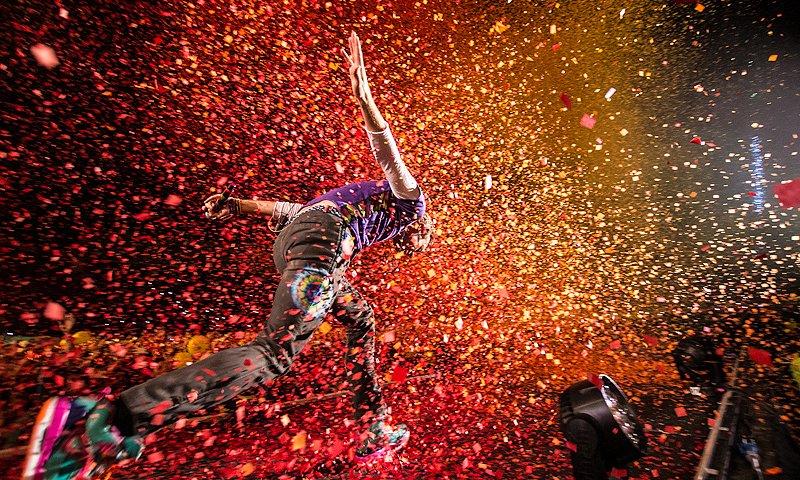 Chris Martin, Coldplay, National Stadium (Estadio Nacional), Santiago, Chile, 3 April 2016, A Head Full of Dreams world tour, Claudio Poblete