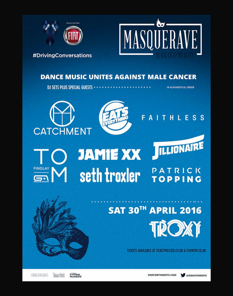 Masquerave, Fiat, One for the Boys, Troxy, Stepney, London, 30 April