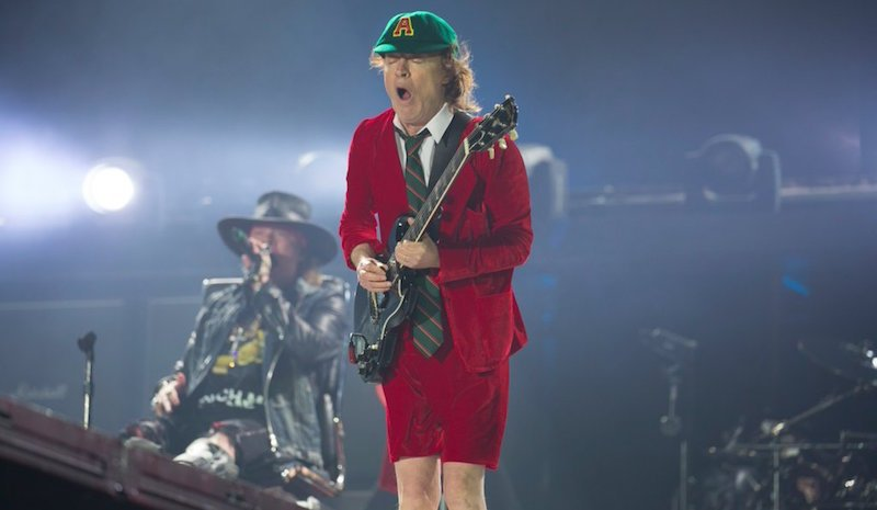 Axl Rose, Angus Young, AC/DC, Lisbon, 7 May 2016