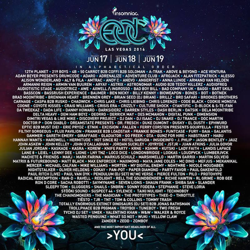 Electric Daisy Carnival 2016 line-up