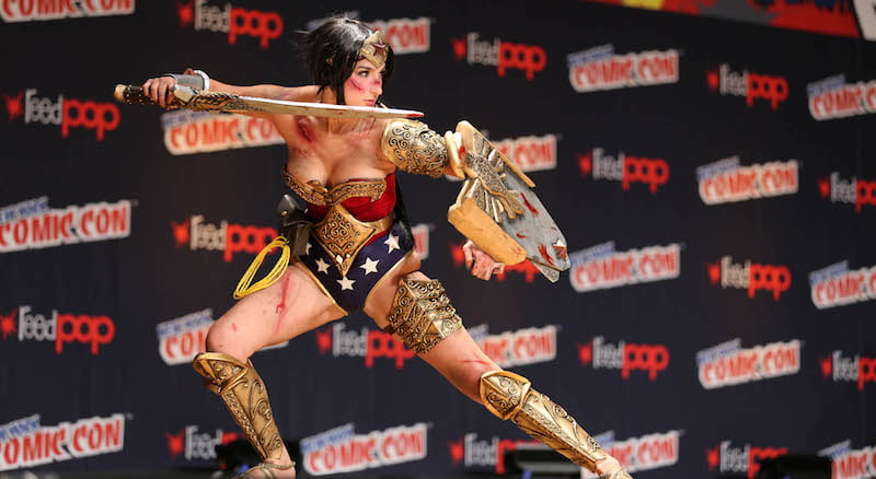 Wonder Woman cosplay, New York Comic Con 2014, Richie S