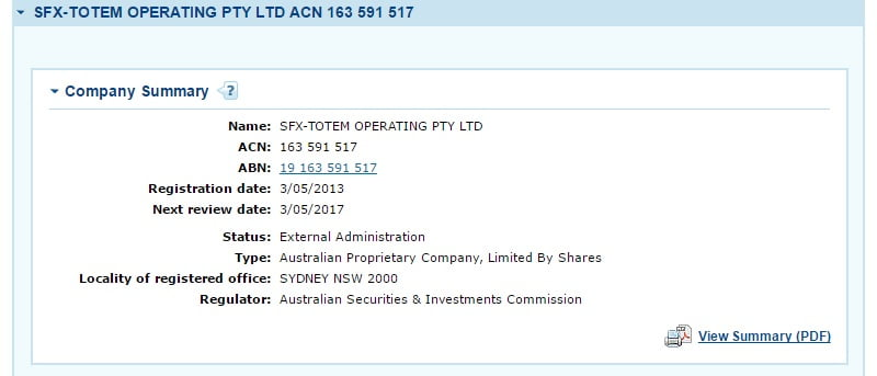 Totem OneLove ASIC administration screenshot