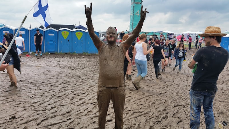 Muddy man, Rock am Ring 2016, Mendig, Klaus Genn