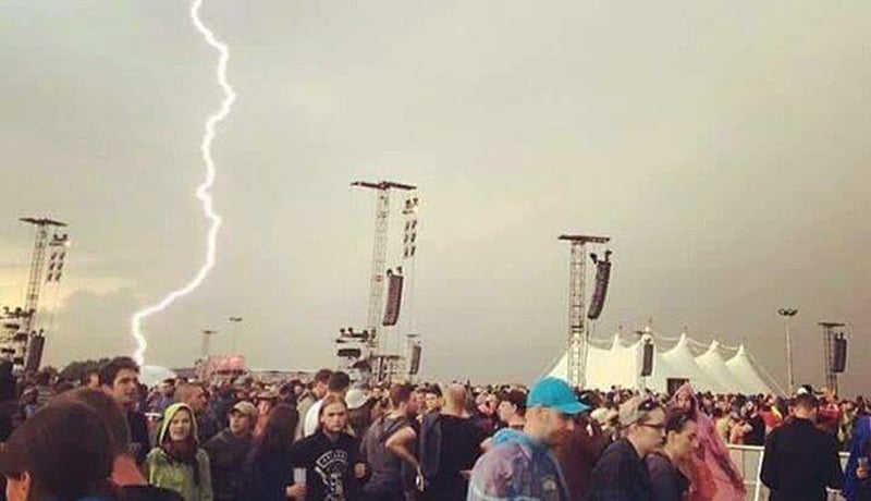 Lightning strike, Rock am Ring 2016, Mendig, EU Storm Map