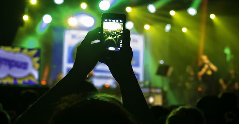 Smartphone at concert, live goes digital, MIDiA Research 'Decoding the Live Event Consumer'