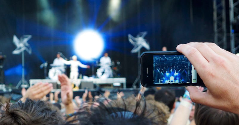 Man filming concert on iPhone,The Hamster Factor