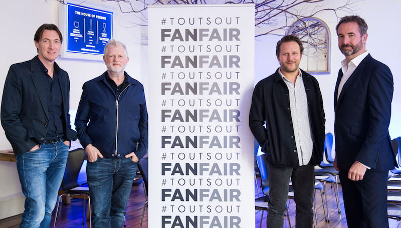 Brian Message, Harry Magee, Adam Tudope, Ian McAndrew, FanFair launch, Kirsten Holst
