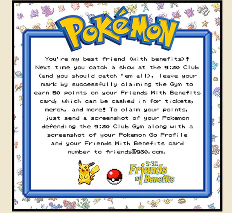 Pokémon Go 9:30 club mail-out