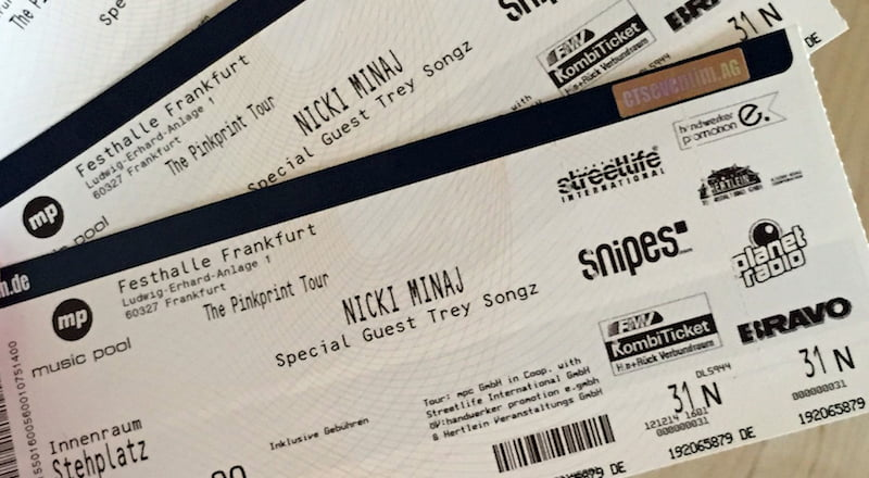 Nicki Minaj tickets, Eventim, Furkantoga