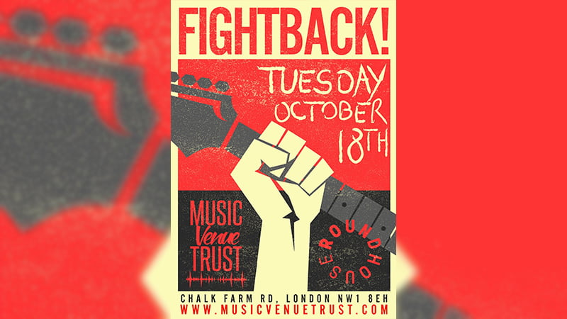 Fightback poster, Music Venue Trust