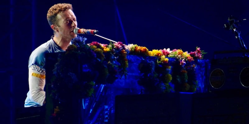 Chris Martin, Coldplay, Barcelona, May 2016, Daniele Dalledonne