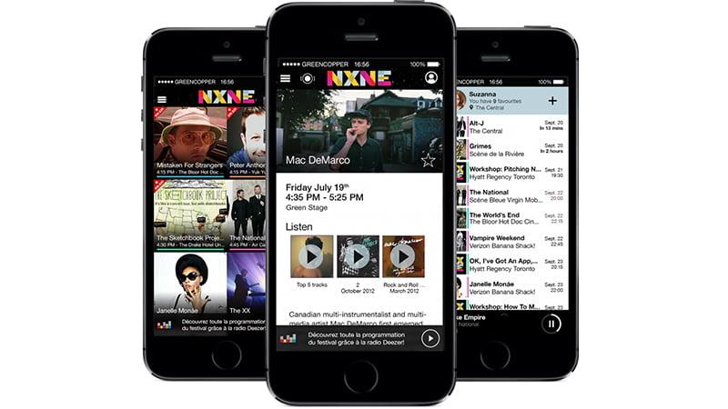 NXNE app, Greencopper