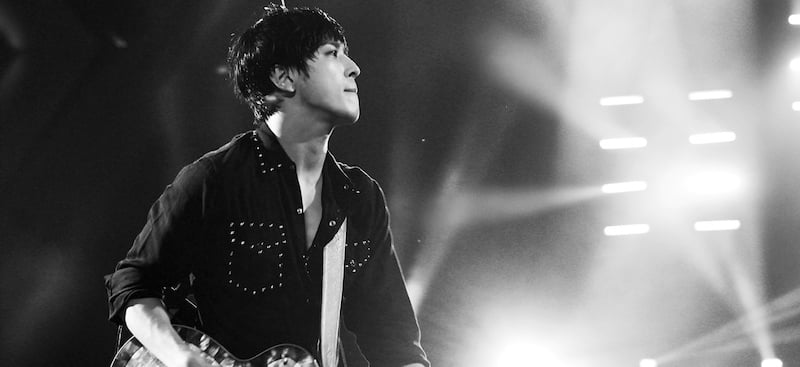 Jung Yong-hwa plays the Mercedes-Benz Arena, in Tking hometown Shanghai, last October, Hillam Lau