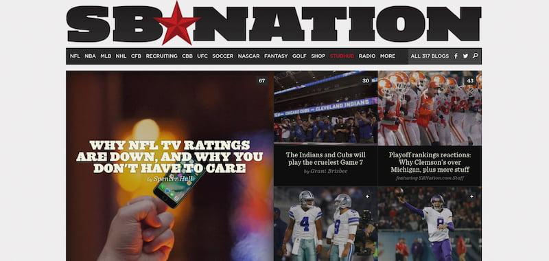 SBNation, StubHub, Vox Media
