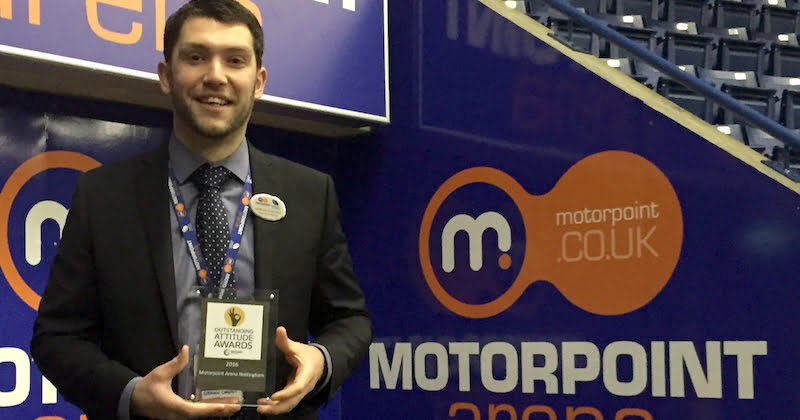 Stephen Chaston, Motorpoint Arena, Outstanding Attitude Awards
