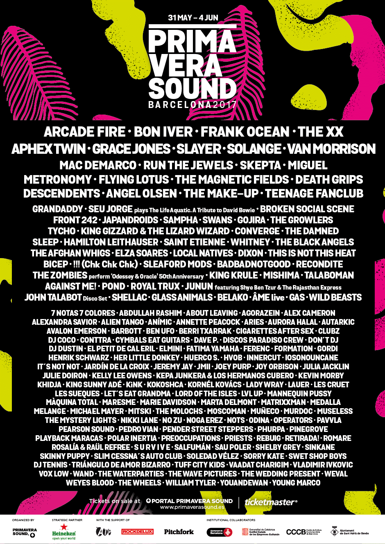 Primavera Sound 2017 line-up