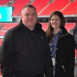 Liam Boylan, Danielle Russell, Gary Hutchinson, Wembley Stadium