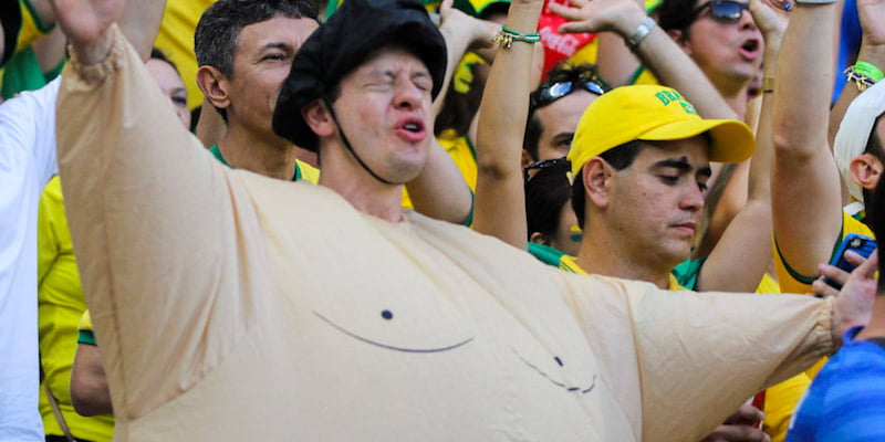 Fan in obese suit, Fifa World Cup 2014, Brazil vs Colombia