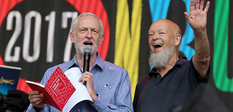 Jeremy Corbyn, Michael Eavis, Glastonbury Festival 2017
