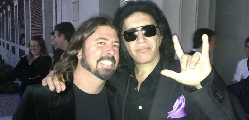 Dave Grohl, Gene Simmons, horns trademark application