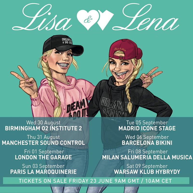 Lisa and Lena Pop Up Party Tour 2017