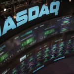 Nasdaq stock exchange, New York, bfishadow