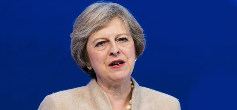 Theresa May, prime minister of the United Kingdom, Davos, January 2017, UK general election 2017
