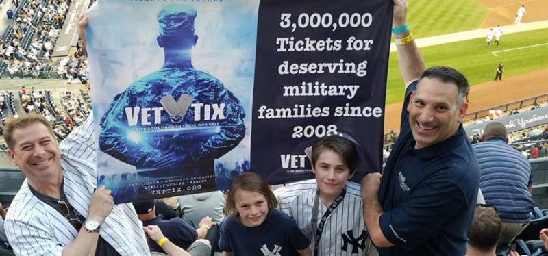 Yankees–Orioles MLB match, Yankee Stadium, VetTixers, Vet Tix Tickets for Troops