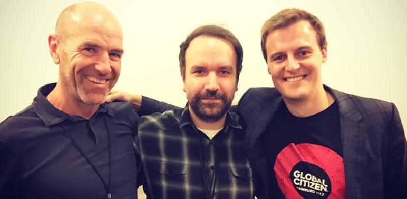 John Reid, Matt Schwartz, Hugh Evans, Global Citizen Festival Hamburg