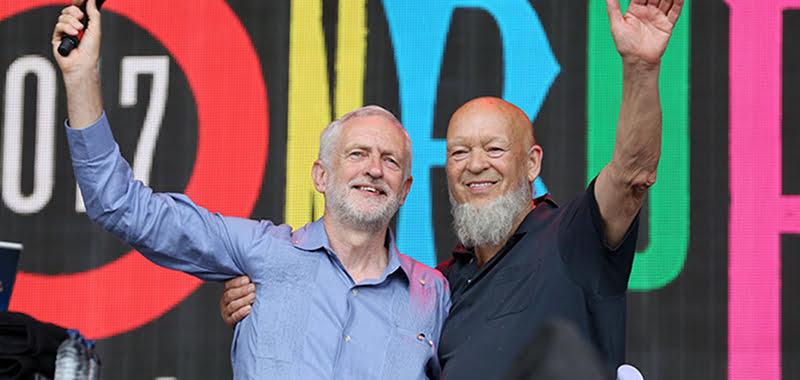 Jeremy Labour, leader of the opposition, Michael Eavis, Glastonbury Festival 2017, Anna Barclay/Glastonbury Festivals, zero-hours contracts