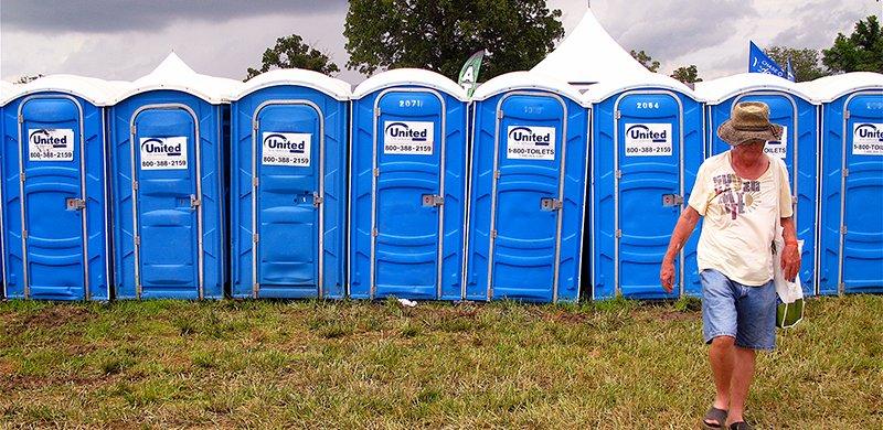 Bonnaroo 2010 toilets, Jason Anfinsen, Purple wifi