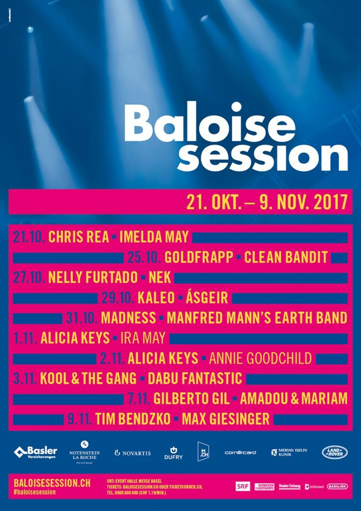 Baloise Session 2017 line-up