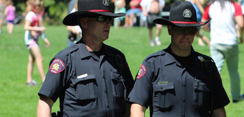 Calgary police officers, Canada Day 2014, davebloggs007/Flickr