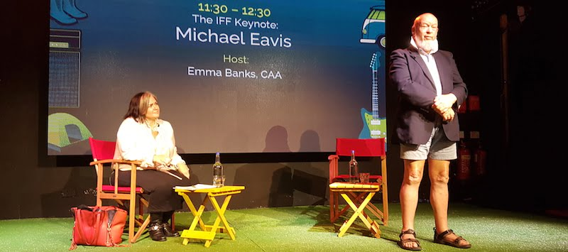 Emma Banks, Michael Eavis, International Festival Forum (IFF) 2017
