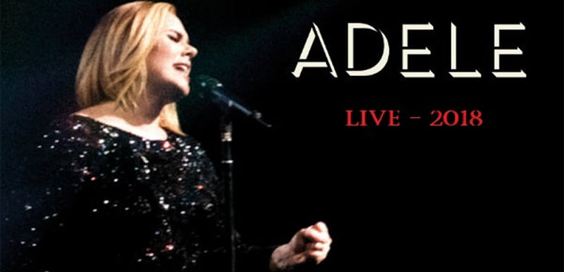 Adele Live 2018 graphic