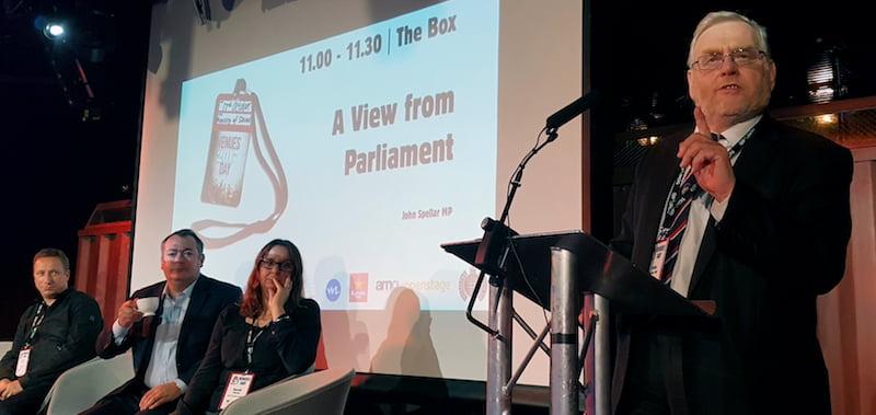 Michael Dugher, John Spellar MP, Venues Day 2017