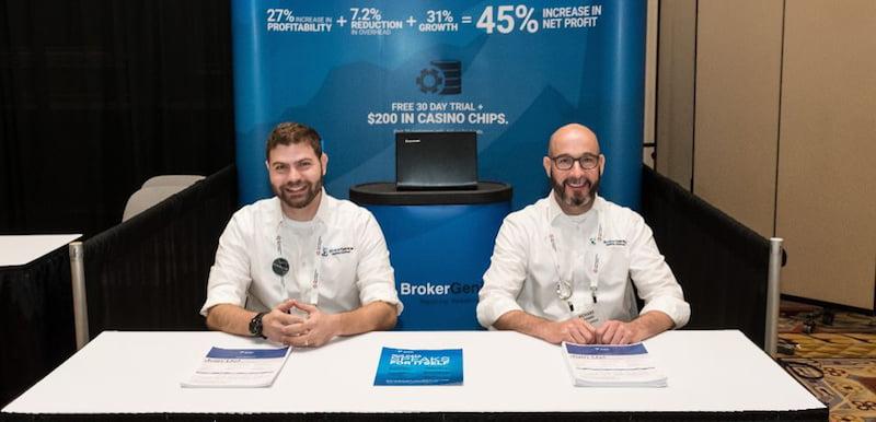 Broker Genius COO Jason Crystal and director of technology Richard Cramer at Ticket Summit in Las Vegas