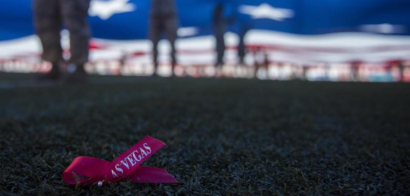 Route 91 Harvest festival memorial, Nellis Air Force Base, Nevada