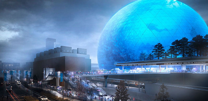 MSG's upcoming Sphere London arena was one of 2018's most talked-about stories