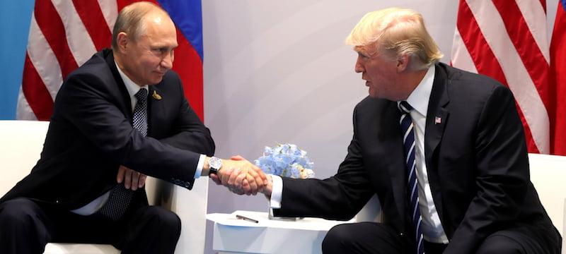 Russian president Vladimir Putin meets with Trump at the G20 Summit in Hamburg