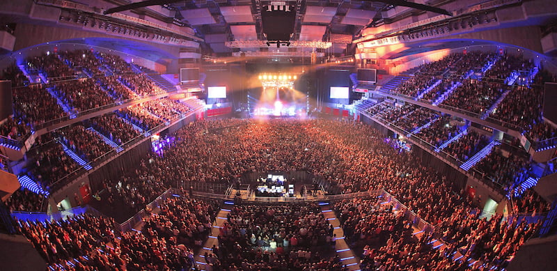 WiZink Center hosted 156 events, of which 75 were concerts, in 2017