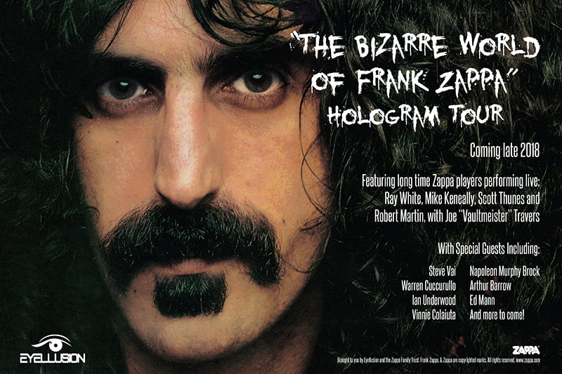 The Bizarre World of Frank Zappa hologram tour poster