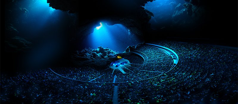 """Audiences will be immersed in multi-sensory environments that can be """"as large as the ocean"""""""
